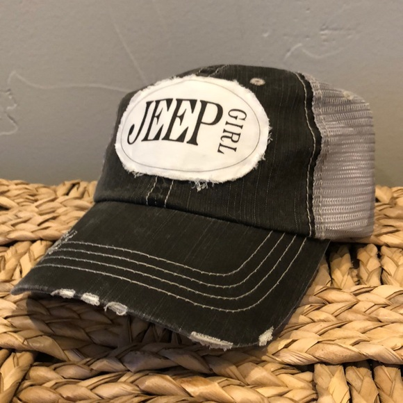 665d4be082004 Accessories - NWOT Jeep Girl Distressed Vintage Baseball Hat